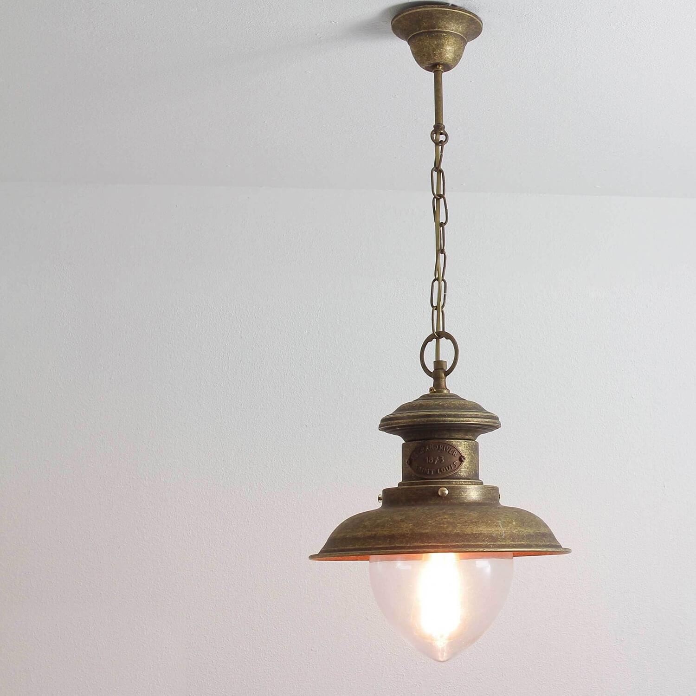 Premium Hängeleuchte Außen aus Messing in Bronze