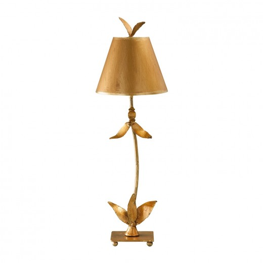 Stehlampe ELIF in Blattgold H:76cm Bodenlampe