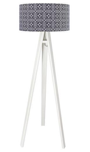 Stehlampe ERIK Weiß Schwarz Retro Dreibein 140cm