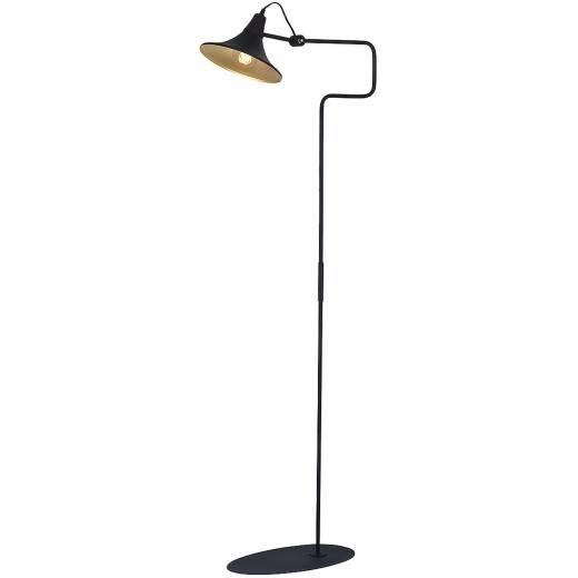 Stehlampe Schwarz Wohnzimmer flexibel Retro Lampe