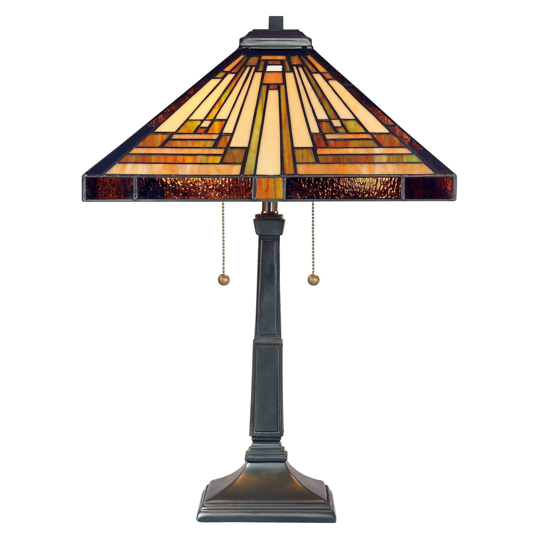 Tischlampe ETERNO 7 Buntglas H:58cm Tiffany Lampe