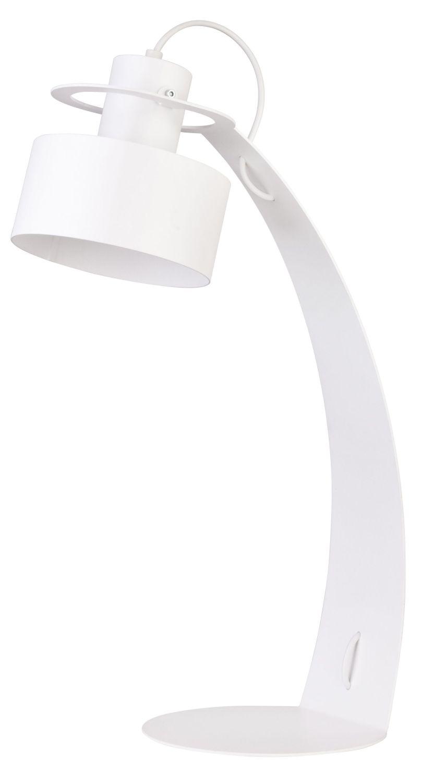 Stylische Tischleuchte Rif Weiß Schirm verstellbar