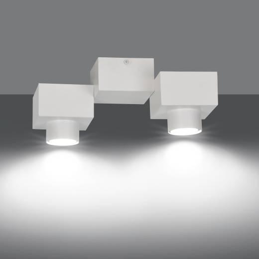 Weiße Deckenleuchte Baustein Design 2-flammig GU10