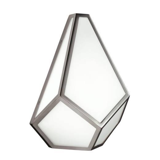 Wandlampe DINA Diamant Nickel E27 blendarm Flur