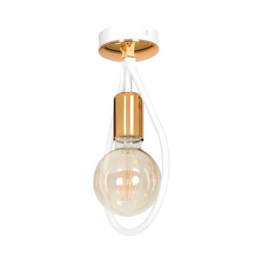 Deckenlampe Loft Industrie Design Kupfer Weiß E27