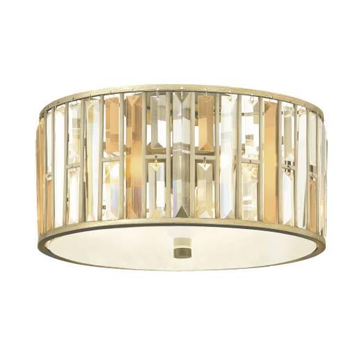 Deckenleuchte PRISM Silber 3-flmg Jugendstil Lampe