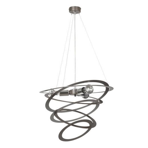 Designer Pendelleuchte Braun Spirale Modern 3x E27