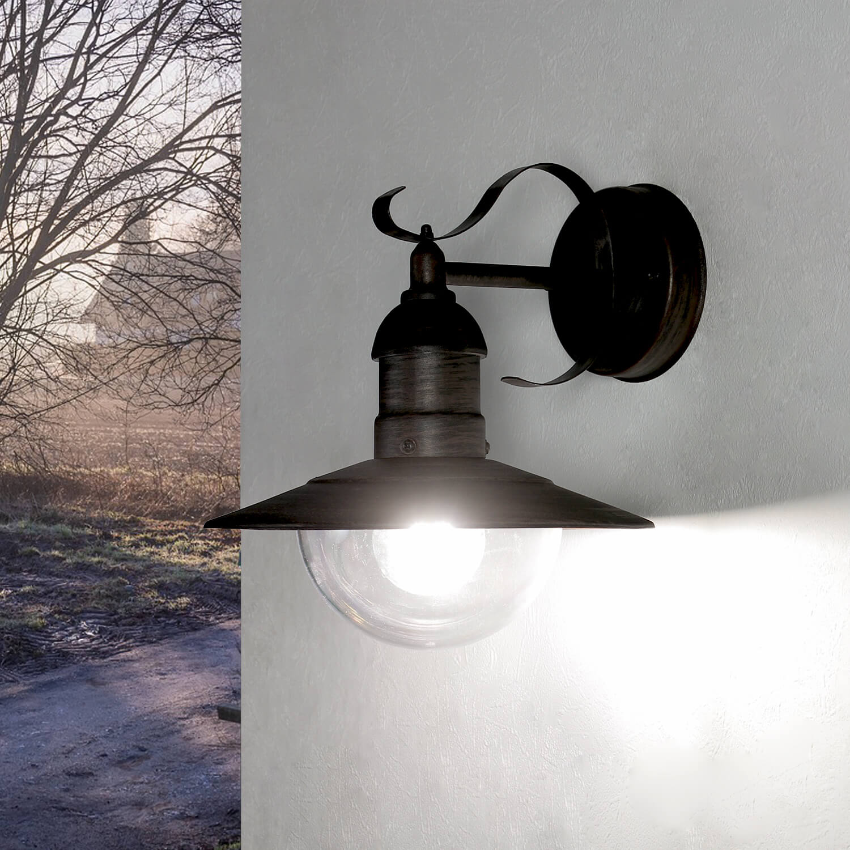 Außen Wandlampe Antik Gold OSLO rustikal wetterfest