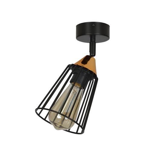 Käfiglampe Schwarz Kupfer Metall verstellbar E27