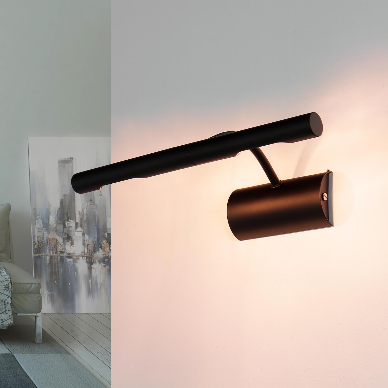 Schwarze Bilderlampe 2x G9 Metall Wand Wohnzimmer