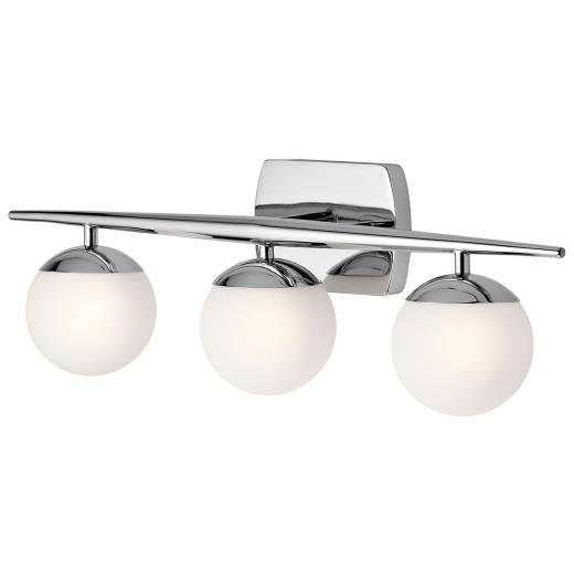 LED Badezimmer Lampe VERDE IP44 in Chrom Weiß