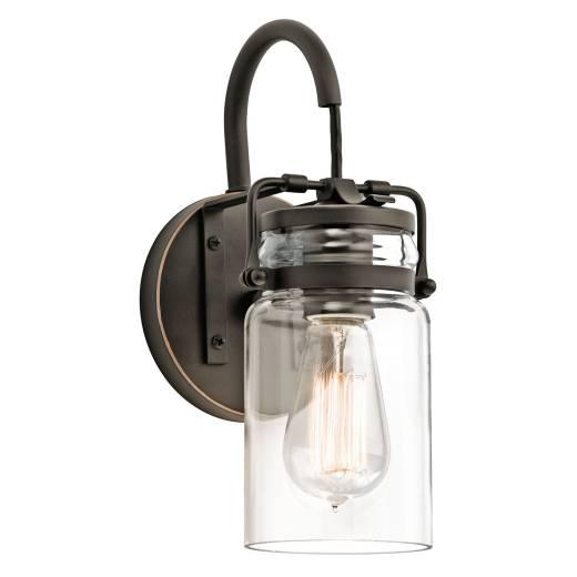 Vintage Wandleuchte Industrie Design Glas Schirm