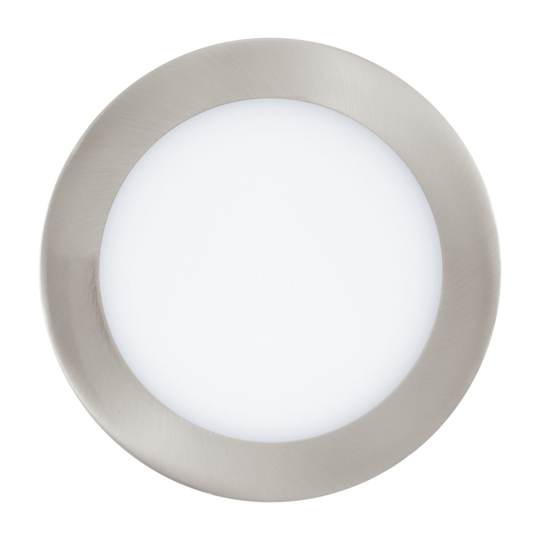 Einbau LED Spotstrahler Fueva 1 Nickel-Matt Ø17cm