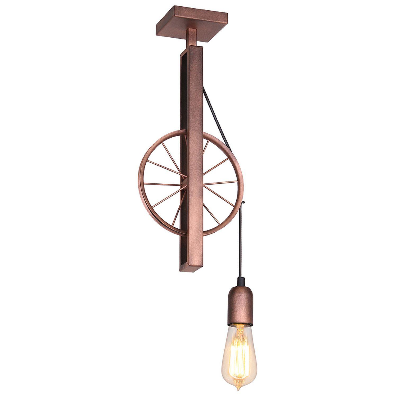 Außergewöhnliche Deckenlampe Kupfer Wohnzimmer