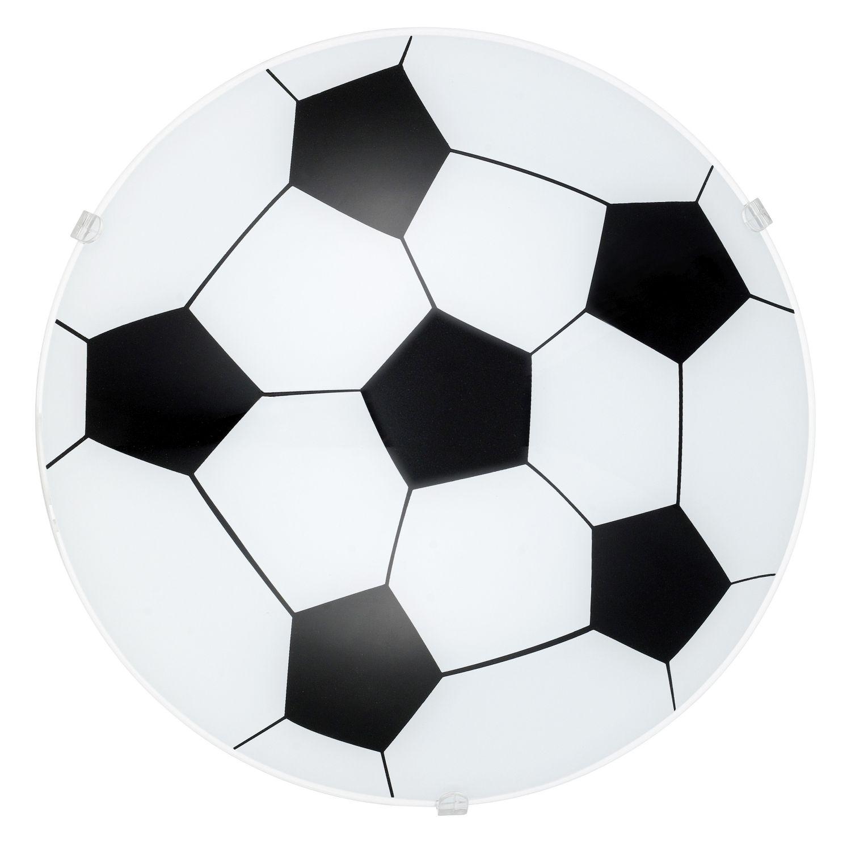 Fußball Wandleuchte Junior 1 Schwarz Ø24,5cm