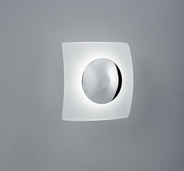 Moderne LED Wandlampe Coronas Weiß-Grau