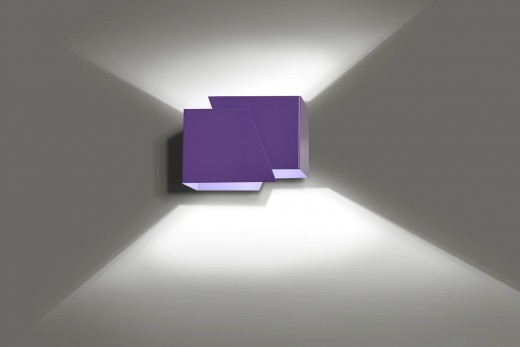 Up Down Wandleuchte Lila Modern Design Treppe Flur