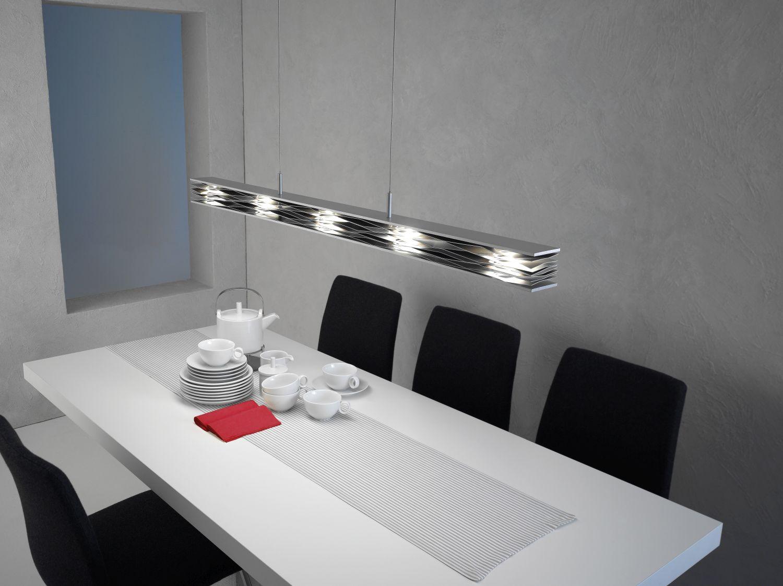 Escale - 47590009 Premium Hängelampe Esstisch LED Aluminium glänzend MILLE FEUILLES