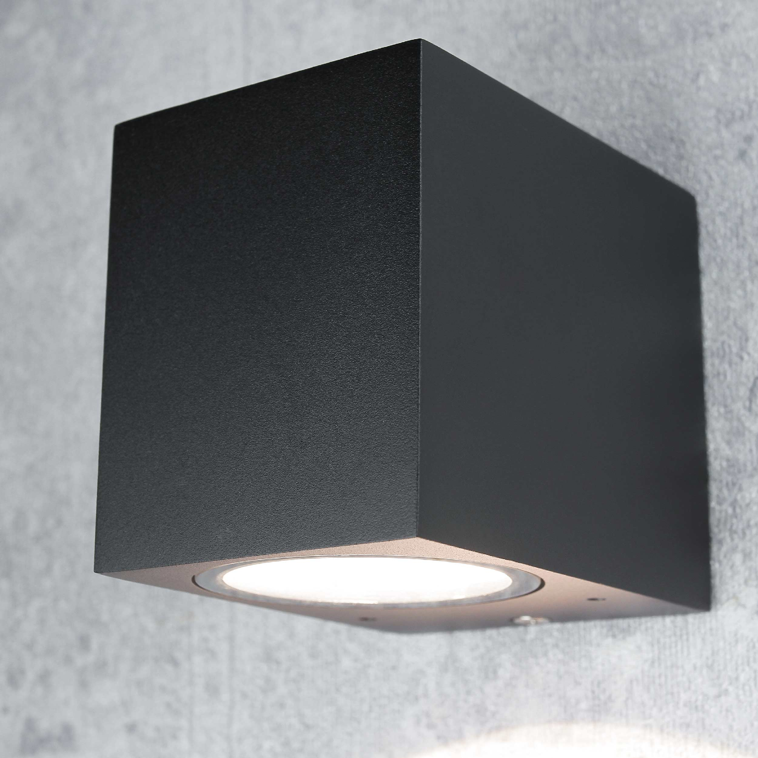 AALBORG Wandlampe für außen Spot Strahler Schwarz