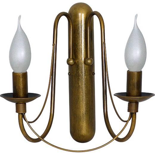 Wandleuchte Rustikal Innenlampe Gold Metall