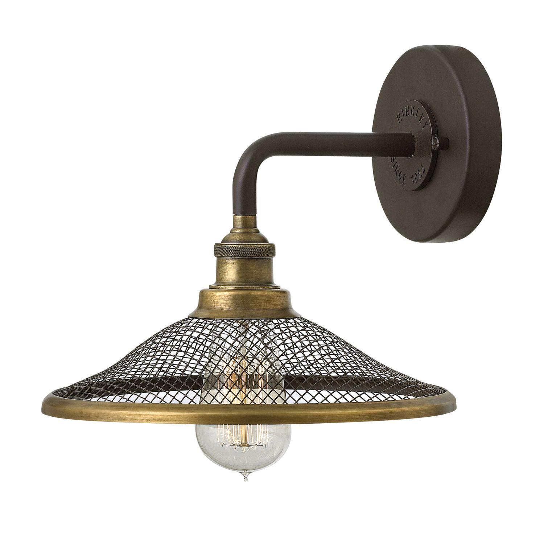 Vintage Wandlampe ALEYNA in Bronze B:25cm Leuchte