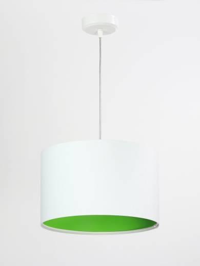 Hängeleuchte Wohnzimmerlampe Weiß Grün Stoff