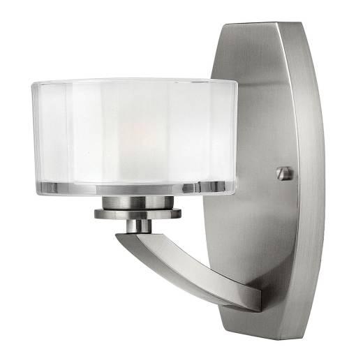 Wandleuchte LOU Weiß Nickel Lampe Wohnzimmer Flur