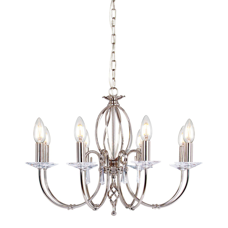 Kronleuchter Metall Kristall Premium Design CANDELA
