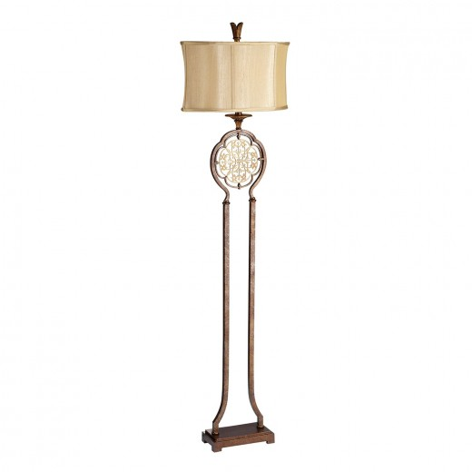 Stehlampe SAMEA Bronze 160cm Rustikal Bodenleuchte