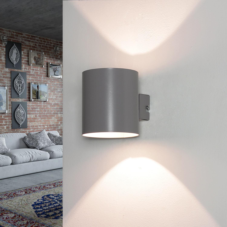 Wandlampe Up Down Grau rund indirektes Licht LOTTIE