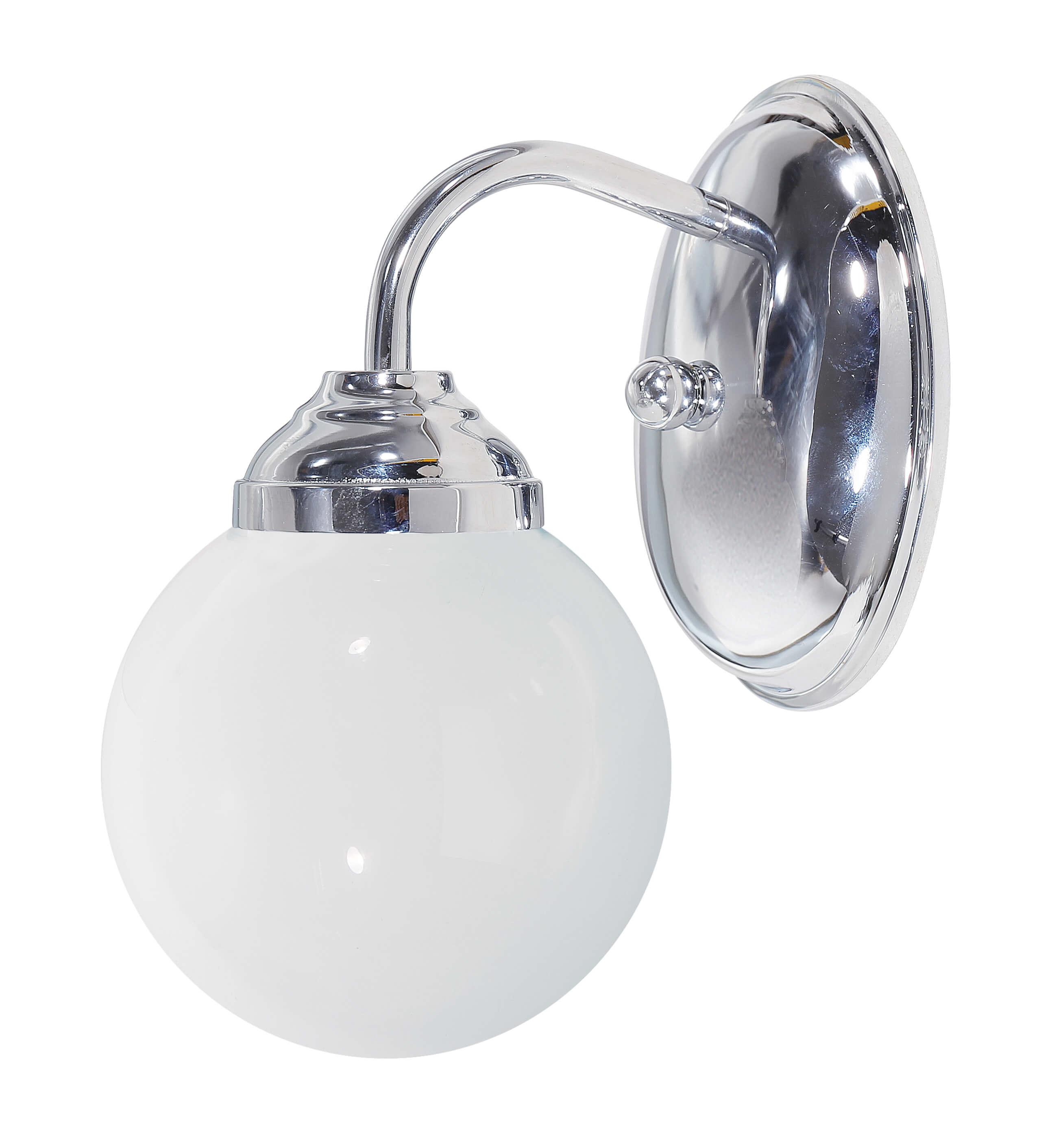 Wandlampe Klassisch Silber Glänzend