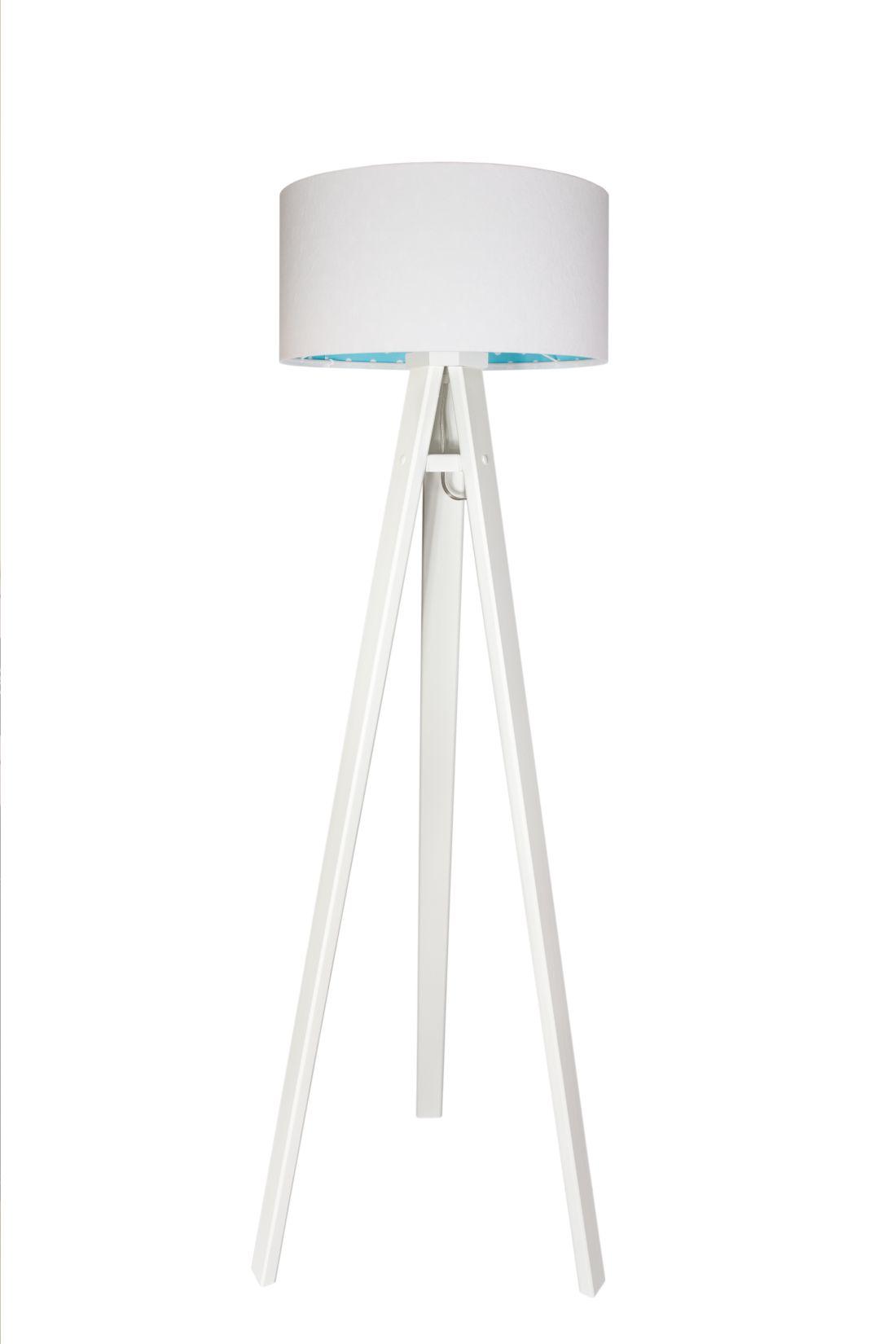Stehlampe Holz Weiß 140cm Kinderzimmer Lampe Dreibein