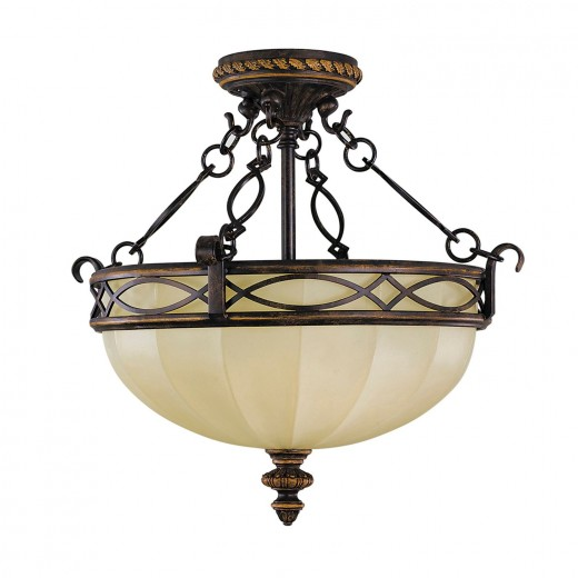 Deckenleuchte ANABELL 1 Creme Landhaus Lampe Flur