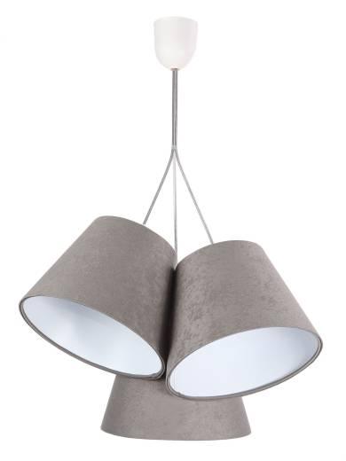 Hängeleuchte Esstisch Innenlampe Grau Weiß Stoff
