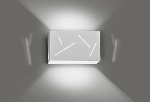 Wandleuchte Treppe Flur Weiß Metall eckig Modern