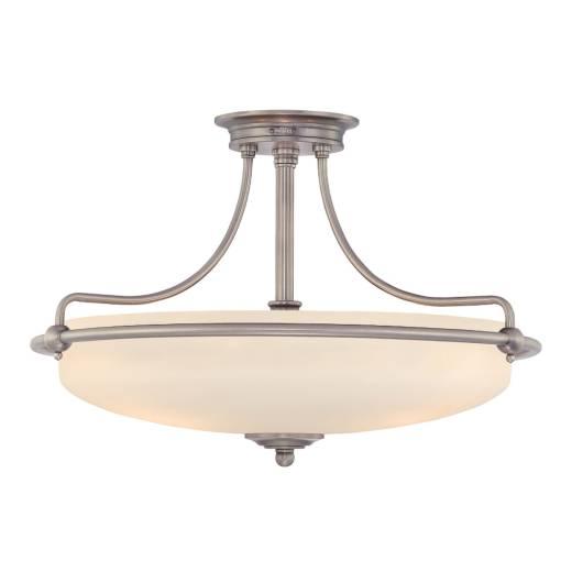 Deckenleuchte ASPERO in Chrom Creme 3-flmg Lampe