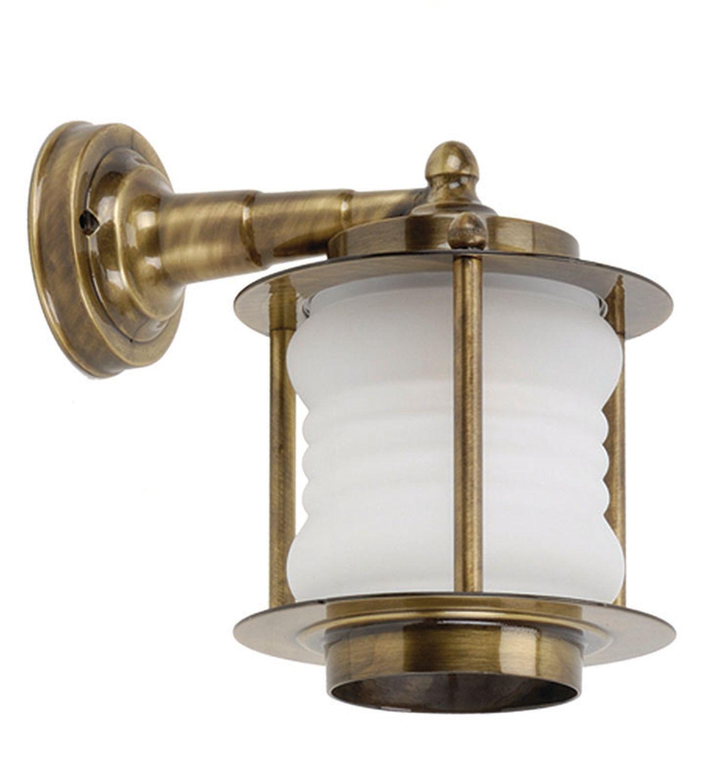 Wandlampe Außen Messing Glas Maritim Haustür