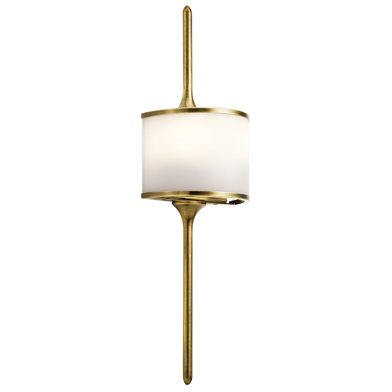 Wandleuchte Bad Messing Weiß B:17cm Bad Lampe ARYA
