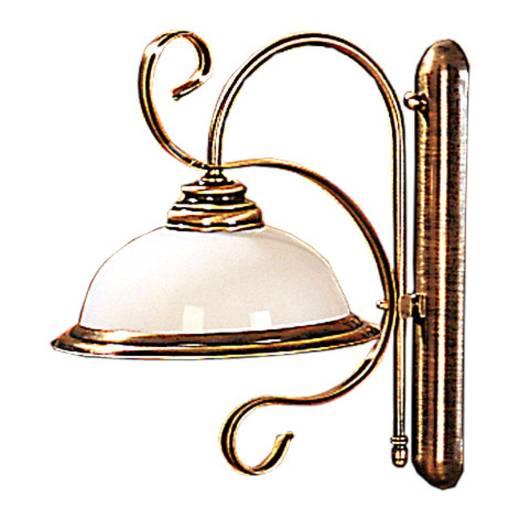 Wandlampe Messing Glas Jugendstil Antike Lampe