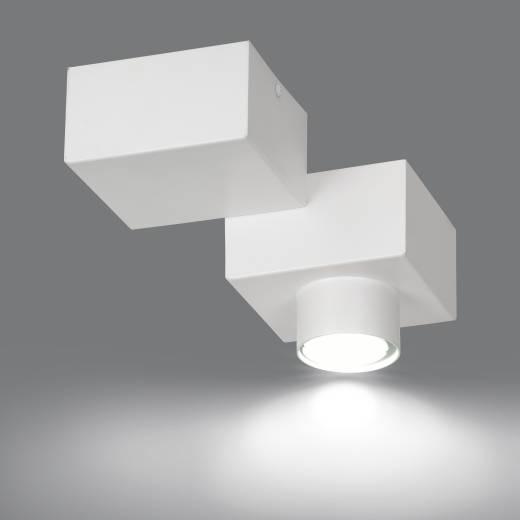 Weiße Deckenlampe Baustein Design eckig Modern