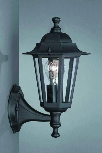 Rustikale Aussenwandlampe Laterne PEKING schwarz