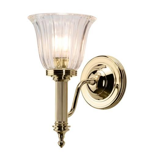 LED Wandlampe Messing massiv Badezimmer IP44 rostfrei