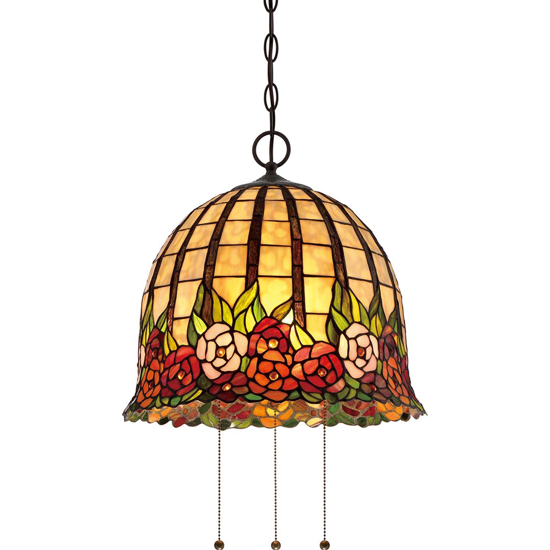Pendelleuchte FARFALLA 9 Bunt Ø38cm Tiffany Lampe