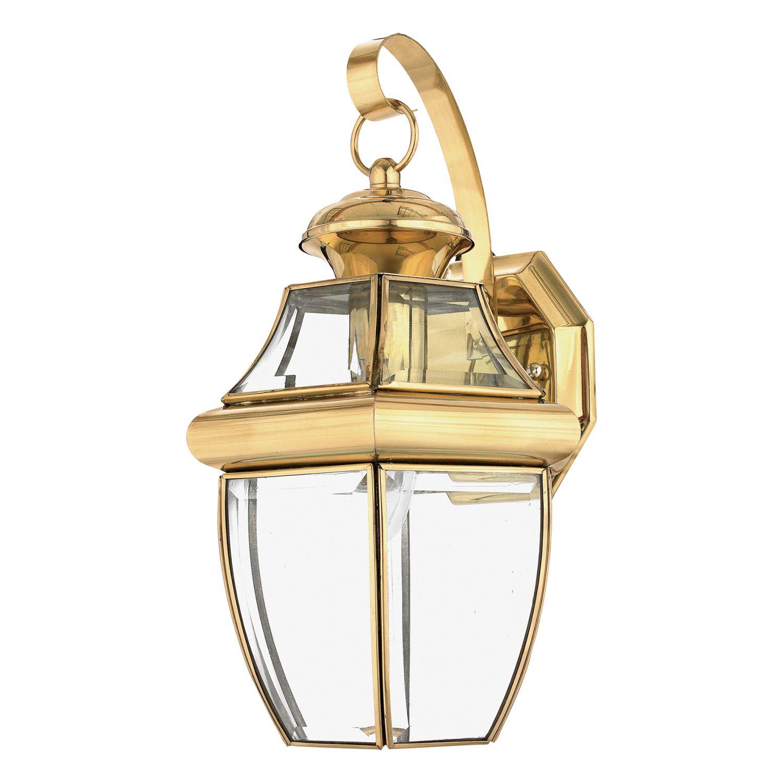 Messing Außenwandlampe IP44 Vintage glanzvoll REGINA