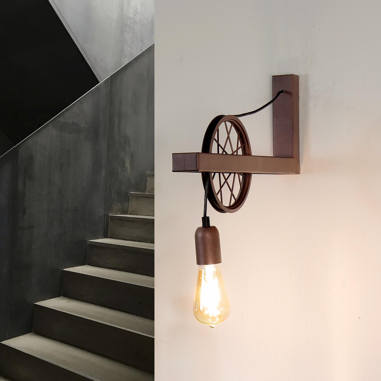 Außergewöhnliche Wandleuchte Kupfer Vintage Lampe
