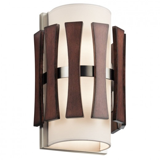 Wandlampe Stoff Holz blendarm Flur Hotel BARRA