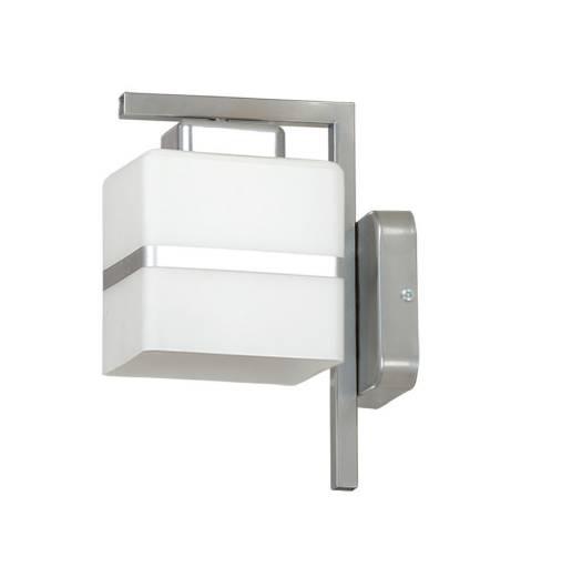 Wandleuchte Bauhaus Weiß Silber Metall Glas Schirm