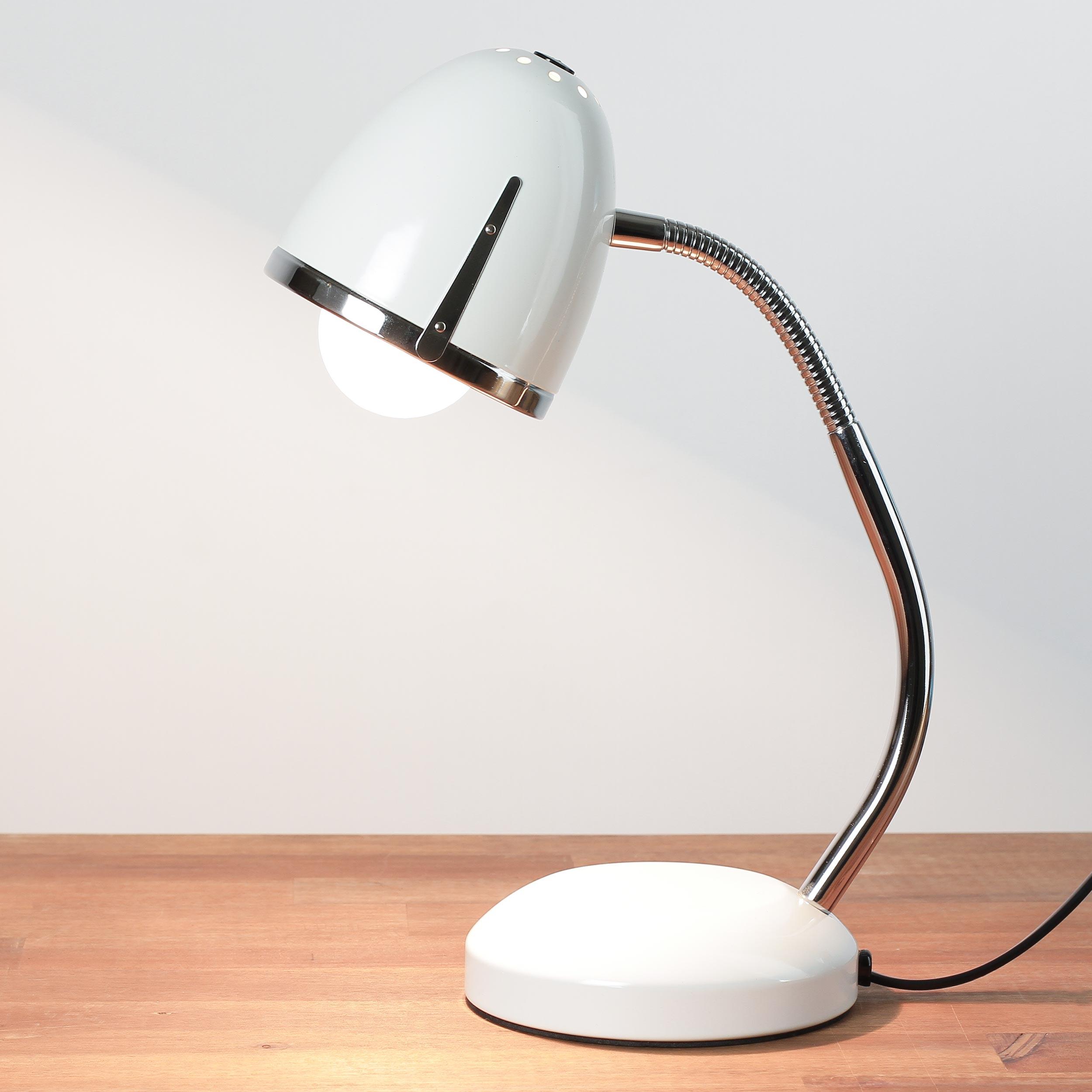 Retro Schreibtischlampe Weiß