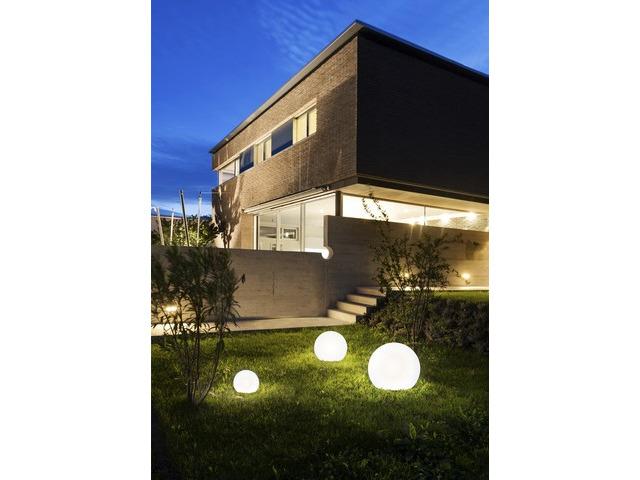 Dekorative Gartenlampe in Weiß Ø45cm