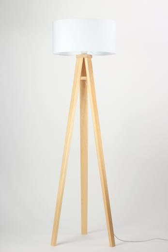 Stehlampe Beleuchtung Braun Holz Wohnzimmer